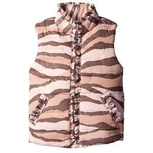 NWT Kate Mack by Biscotti Girls/' Pink Ruffle Puff Vest ~ Size 4 5 8 10
